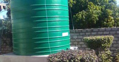 Residents await water tanks filling up after tanks installation completed
